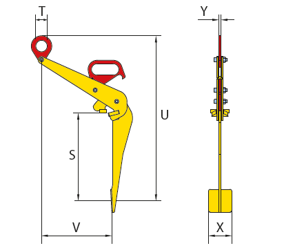cast-pinze per sollevamento fusti - tvkh - specifiche