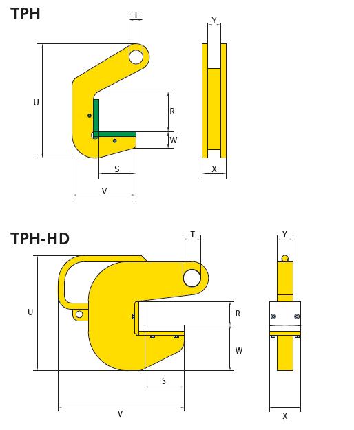 cast - pinze per sollevamento tubi-tph-istruzioni specifiche