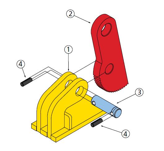 cast - pinze sollevamento orizzonale THD schema